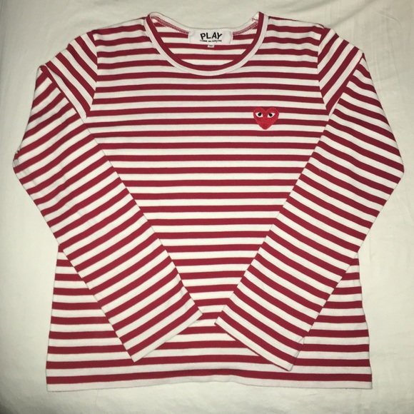 adad82ecf281 Comme des Garcons Other - Comme Des Garçons PLAY Red and White Striped Shirt